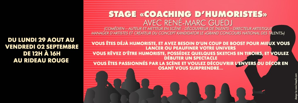STAGE «  COACHING D'HUMORISTES »